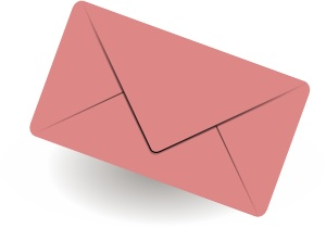 pink mail envelope